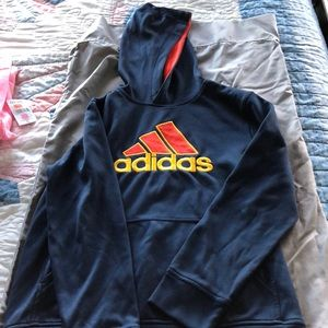 Boys Adidas hooded sweatshirt